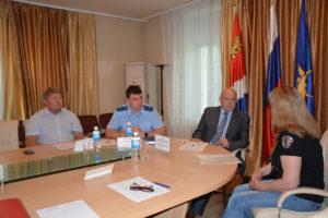 Председатель Думы Анатолий Бадель принял участие в личном приёме Уполномоченного по правам человека в Приморском крае Валерия Розова