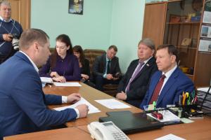 Встреча с педагогическим составом школы № 35, а также с жителями п. Угловое.
