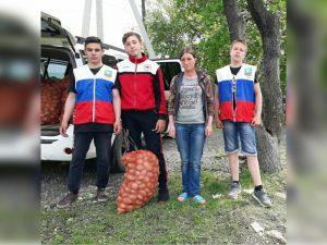 В рамках проекта «Российское село» Партии «Единая Россия», были бесплатно развезены и розданы мешки с картофелем.