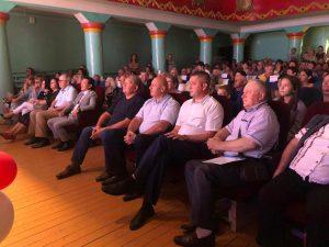 В микрорайоне шахты «Амурская» прошло торжественное собрание, посвященное Дню города и Дню шахтёра.