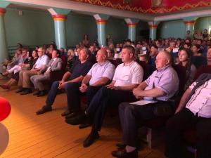 Торжественное собрание, посвященное Дню города и Дню шахтёра в микрорайоне шахты «Амурская».