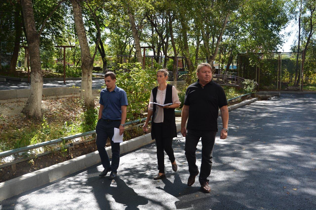 Рабочий выезд по объектам благоустройства согласно муниципальной программе «Комфортная городская среда».