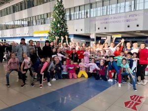 В Международном аэропорту Владивостока прошел танцевальный флешмоб «Молодежь —  в доноры!»