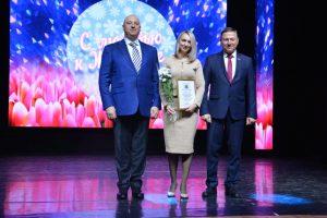 Прекрасная половина жителей Артемовского городского принимает поздравления