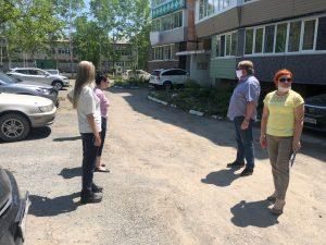 29 мая состоялся предварительный осмотр придомовой территории многоквартирного дома ул. Михайловская, 8 , ремонт которой запланирован на 2021 год.