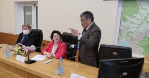 Встреча сенатора Российской Федерации Людмилы Талабаевой с депутатами Думы АГО.