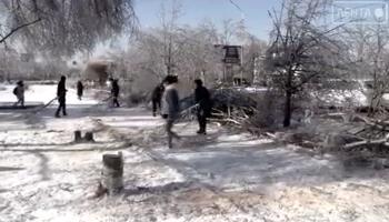 Расчистили территорию от ул. Кирова, 8 до памятника им. Ф. А. Сергееву от сломанных веток.
