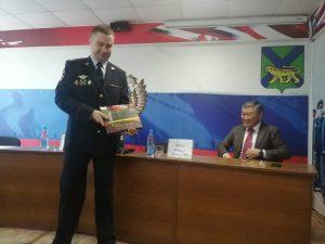 Полковник полиции Эдуард Михайлович Хавабу представил сегодня назначенного на должность начальника отдела МВД по городу Артему